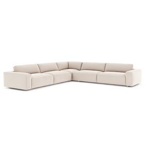 Fenton Tacoma Ivory Fabric 3 Piece Sectional Sofa