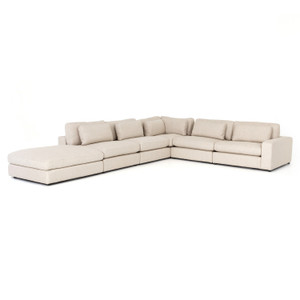 """Bloor Contemporary Essence Natural 5 Piece Corner Sectional Sofas 131"""""""