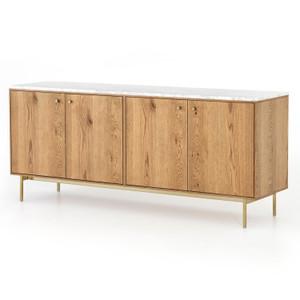 """Montrose 4 Door Oak Sideboard Cabinet 72"""""""