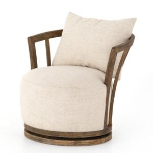 Hallie Thames Cream Swivel Chair