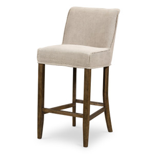 Aria Heather Twill Stone Bar Stool
