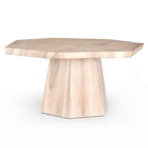 "Brooklyn Organic Walnut Wood Octagon Dining Table 60"""