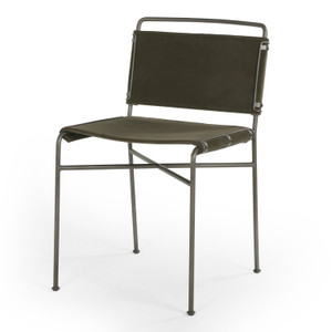 Wharton Modern Velvet Loden Dining Chair