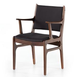Bina Dark Blue Canvas Arm Chair