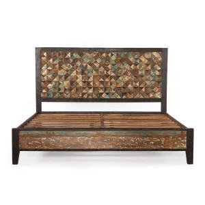 Mayan Reclaimed Wood Queen Platform Bed