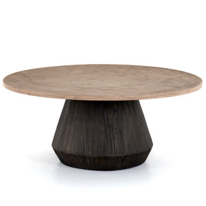Darwin Round Coffee Table-Taupe Concrete