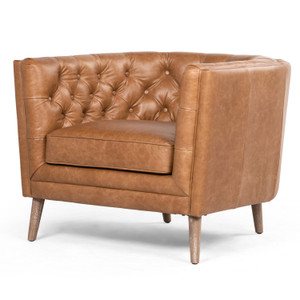 Belair Sonoma Butterscotch Leather Chair