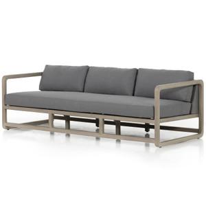 "Callan Weathered Grey Outdoor Sofa-90"""