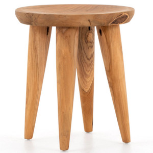 Zuri Natural Round Outdoor End Table