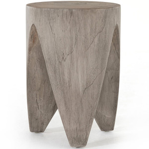 Petros Weathered Grey Teak Outdoor End Table
