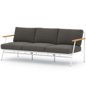 Aroba White Aluminum Outdoor Sofa