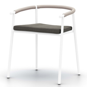Chord White Aluminum Outdoor Dining Chair