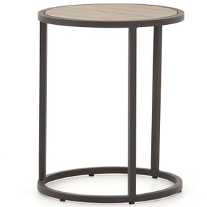 Alda Washed Brown Outdoor End Table
