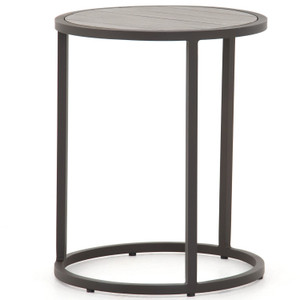 Alda Weathered Grey Outdoor End Table