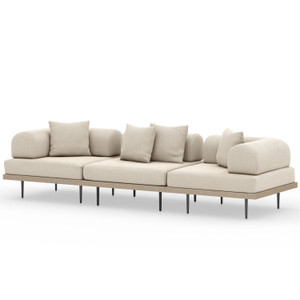 Yves Outdoor 3 Piece Sectional