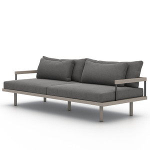 Nelson Weathered Grey Outdoor Sofa