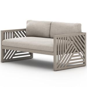 "Avalon Weathered Grey Outdoor Sofa 59"""