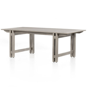 """Balfour Weathered Grey Outdoor Dining Table 82"""""""