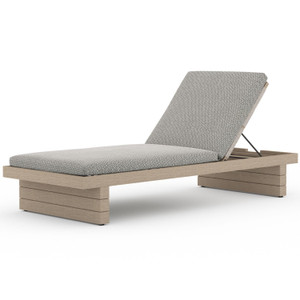Leroy Washed Brown Outdoor Chaise
