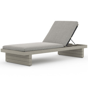 Leroy Weathered Grey Outdoor Chaise