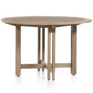 "Balfour Brown Teak Outdoor Round Dining Table 48"""