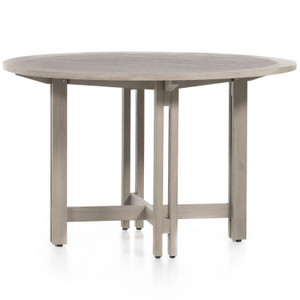 "Balfour Grey Teak Outdoor Round Dining Table 48"""