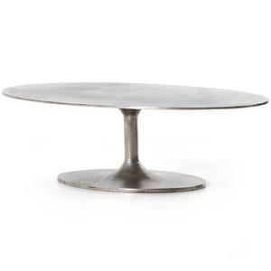 Simone Antique Nickel Coffee Table