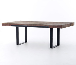"Graham Industrial Reclaimed Wood 84"" Dining Table"
