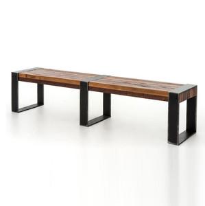 Warren Industrial Reclaimed Wood Bench