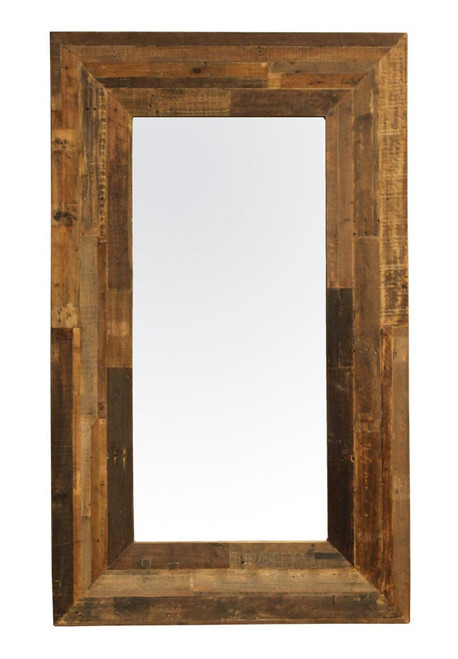 Angora Reclaimed Wood Tall Floor Mirror