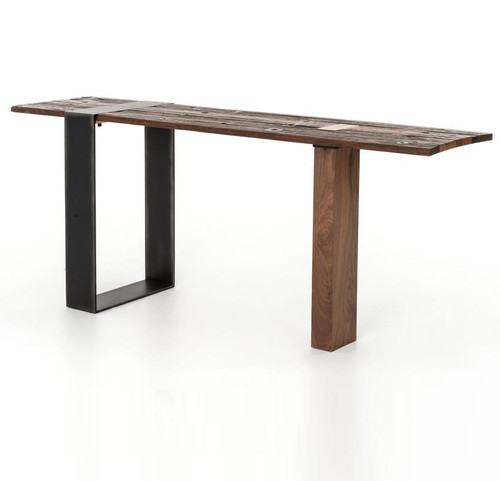 Bina Marlon Reclaimed Wood + Metal Console Table