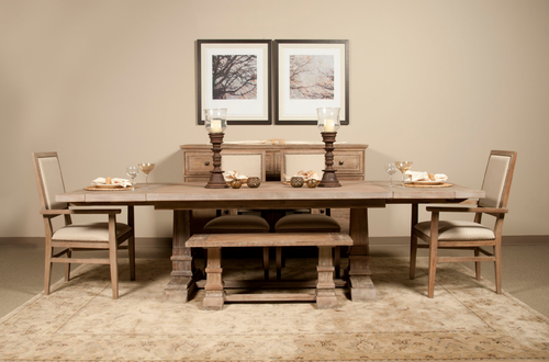 """Hudson 43"""" dining bench is Shown"""