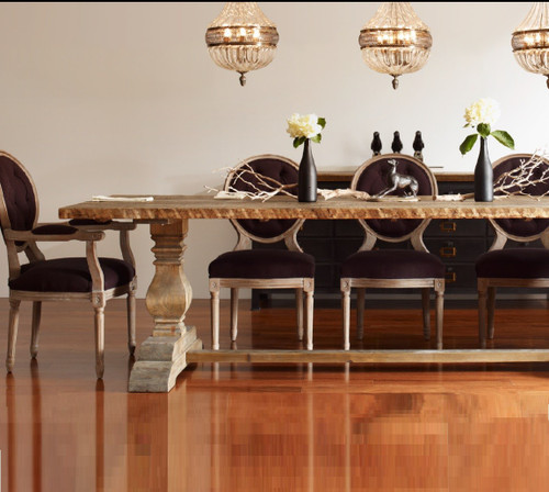 Natural Rustic Reclaimed Wood Trestle Dining Table 87 Zin Home