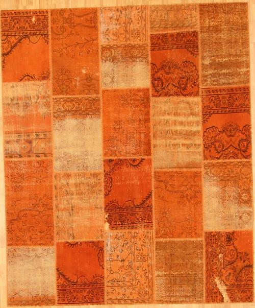 Turkish Patchwork Rugs- Orange