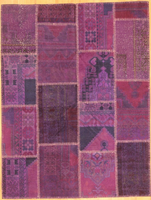 Turkish Patchwork Rugs- Purple