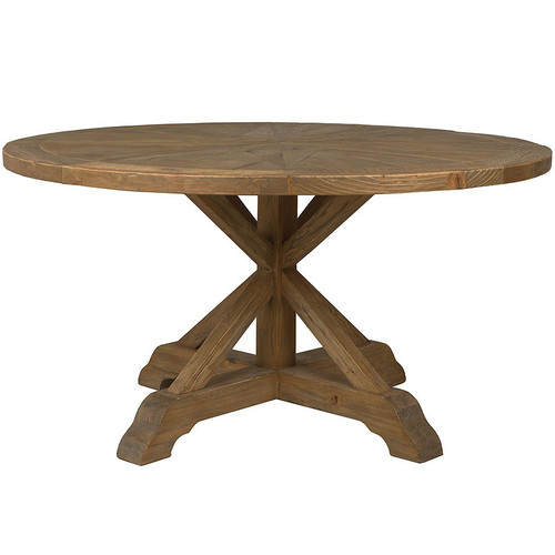 Opio Reclaimed Wood Round Dining Table