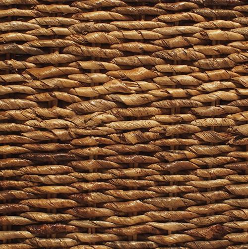 Lanai Banana Leaf Woven Wicker Queen Platform Bed Zin Home