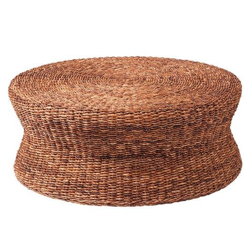 Charmant Lanai Woven Round Coffee Table Ottoman