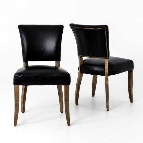 Carnegie Mimi Dining Chair-Old saddle Black Weathered Oak