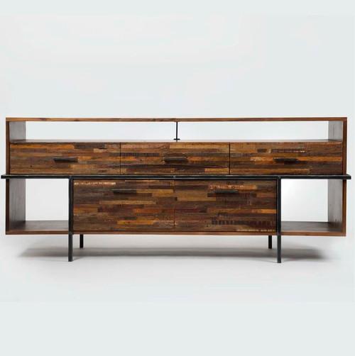 Carson Industrial Reclaimed Wood Media Dresser Zin Home