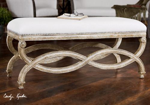 Linene Upholstered end of bed bench