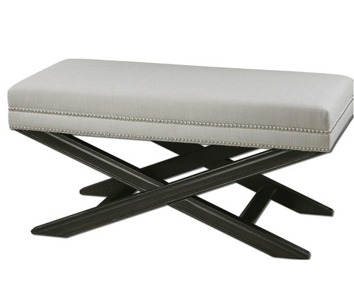 Viera Small Upholstered Bench Footstool Zin Home