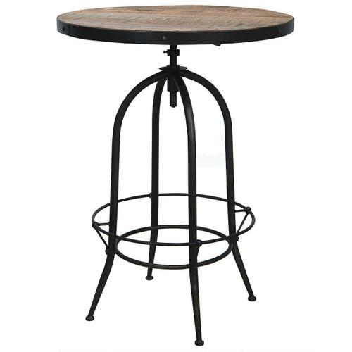 """Industrial Adjustable Bristol Pub Table 31"""""""