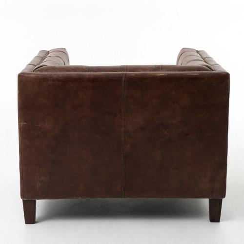 ... Abbott Vintage Brown Leather Club Chair ...