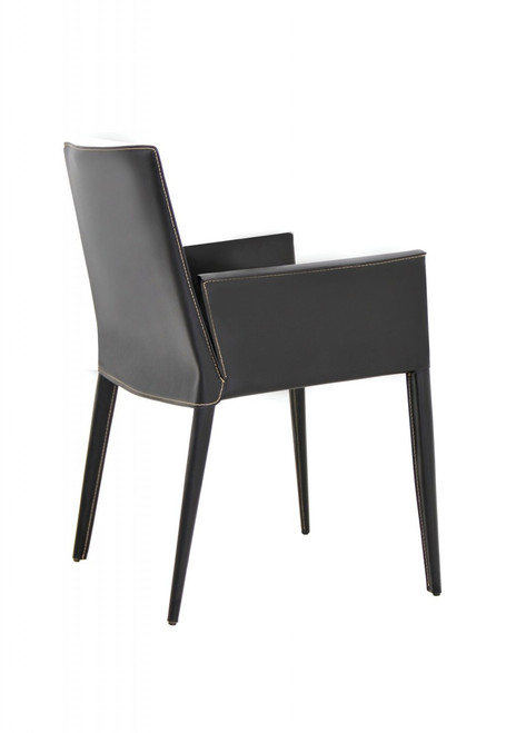 Tiffany Leather Dining Arm Chair Zin Home