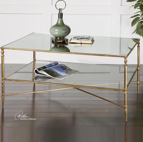 gold leaf coffee table