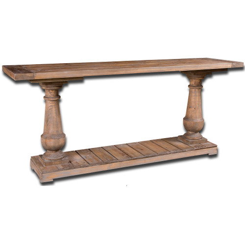reclaimed wood distressed console table