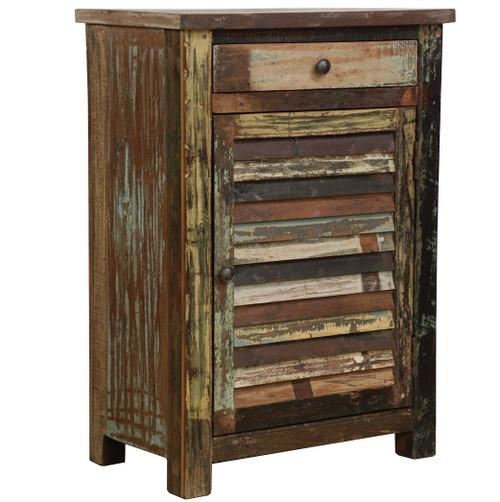 Vintage Shabby Chic 1 Drawer 1 Door Cabinet