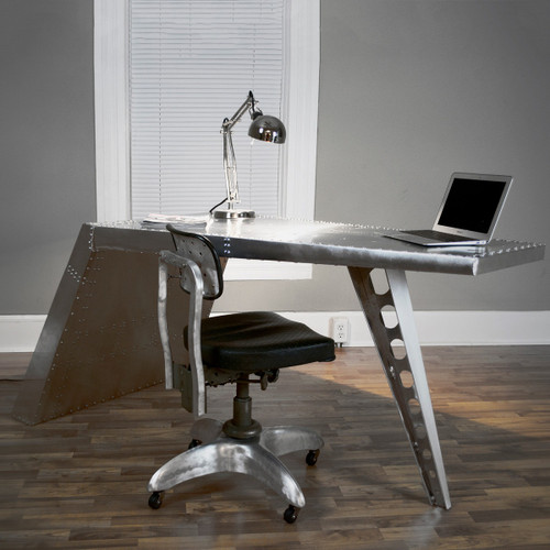 Aviator Airfoil Desk - Aluminum