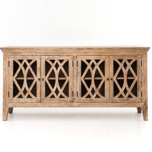 "Somerset Solid Wood Large 4-Door Sideboard 80"""